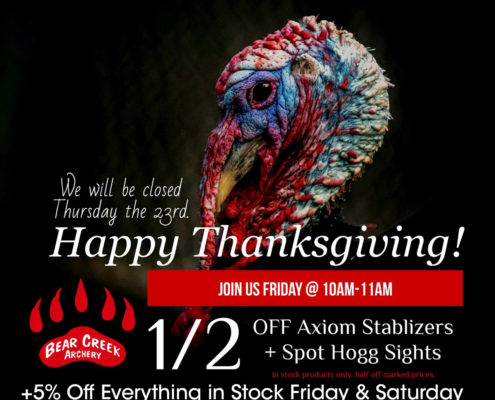 Denver Archery Thanksgiving Sale