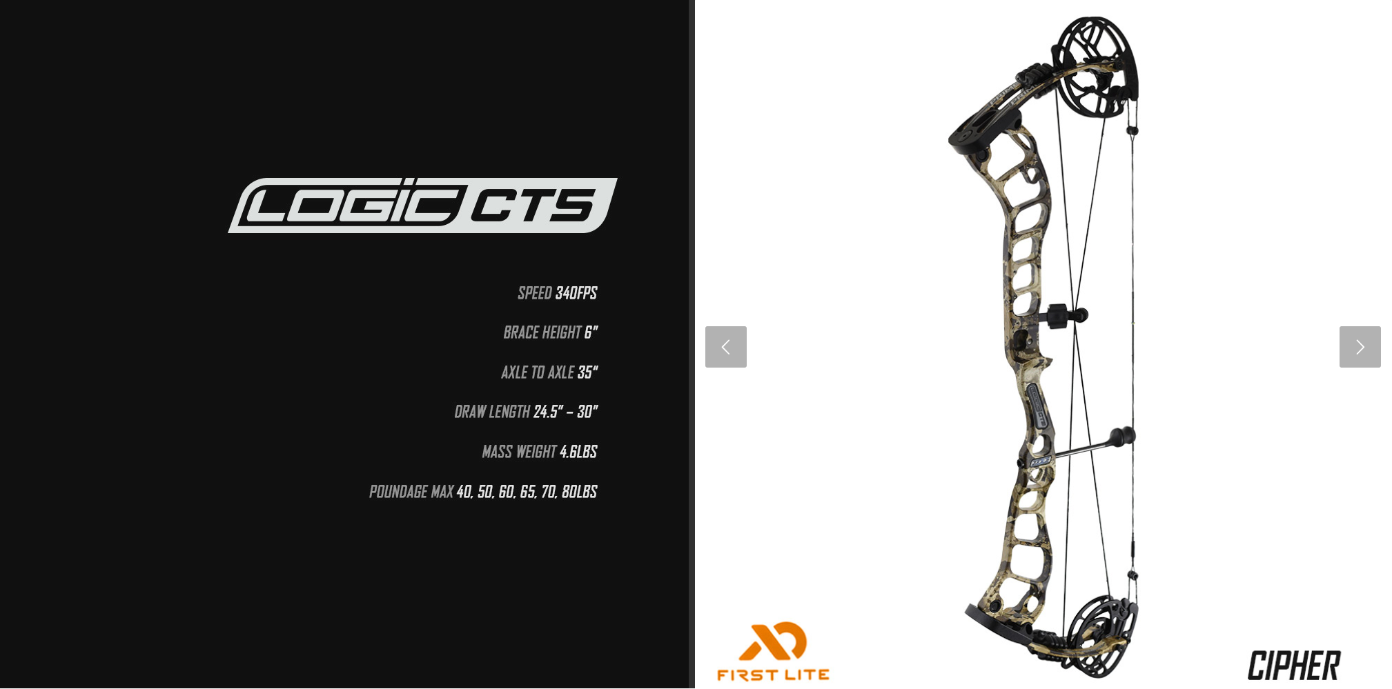 2019 G5 PrimeArchery Logic CT5 Specs