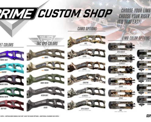 2019 G5 PrimeArchery Logic CT Series Colors