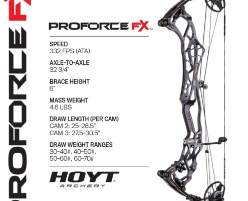 2019 Hoyt Archery New Release - ProForce FX Spec Sheet
