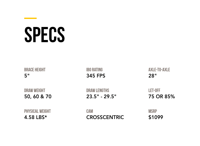 2019 Mathews TX-5 Specs