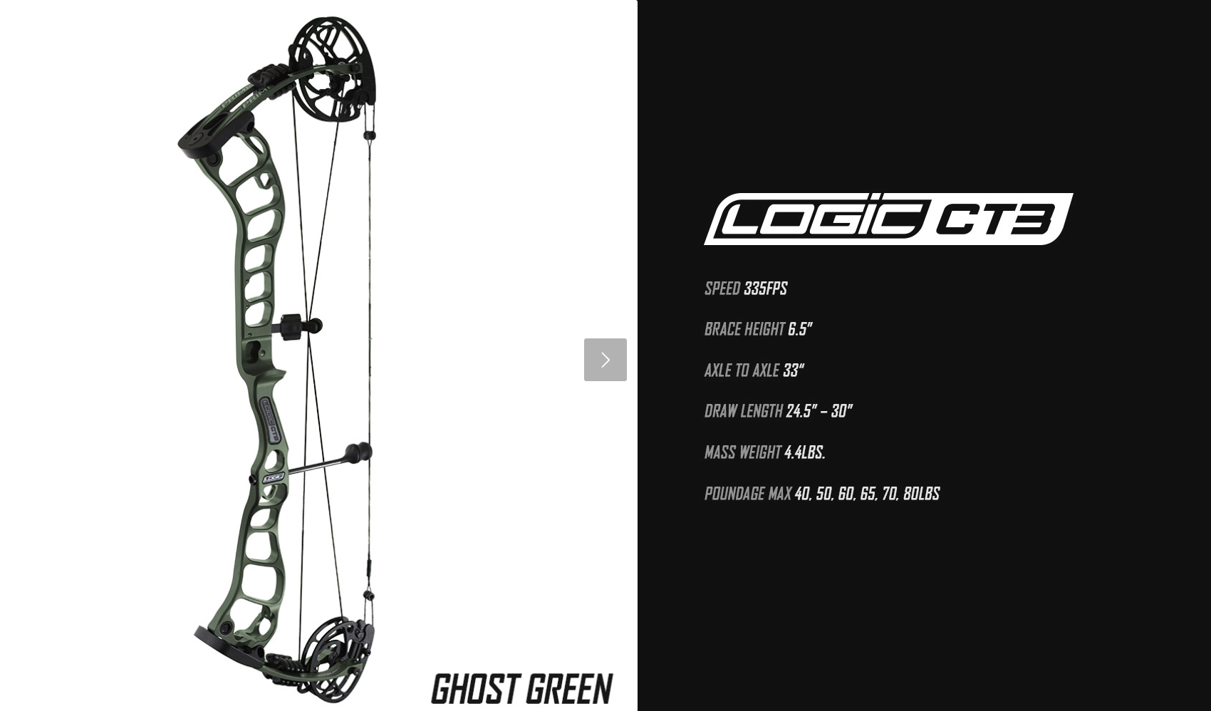 2019 G5 PrimeArchery Logic CT3 Specs
