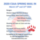 2020 CSAA Spring Mail In – Denver, Colorado