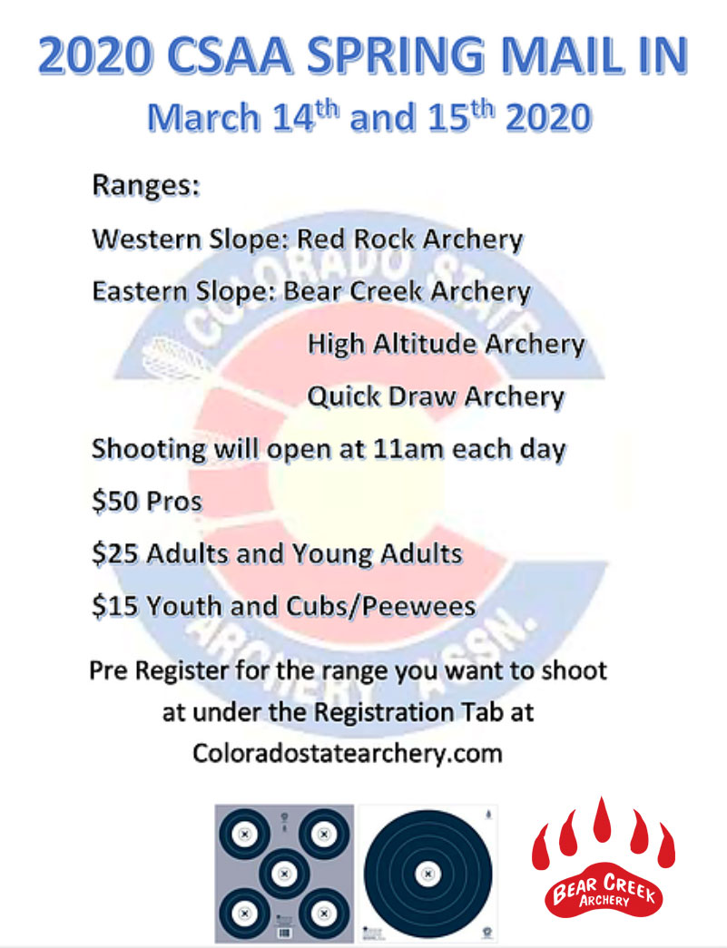 2020 CSAA Spring Mail In – Denver, Colorado